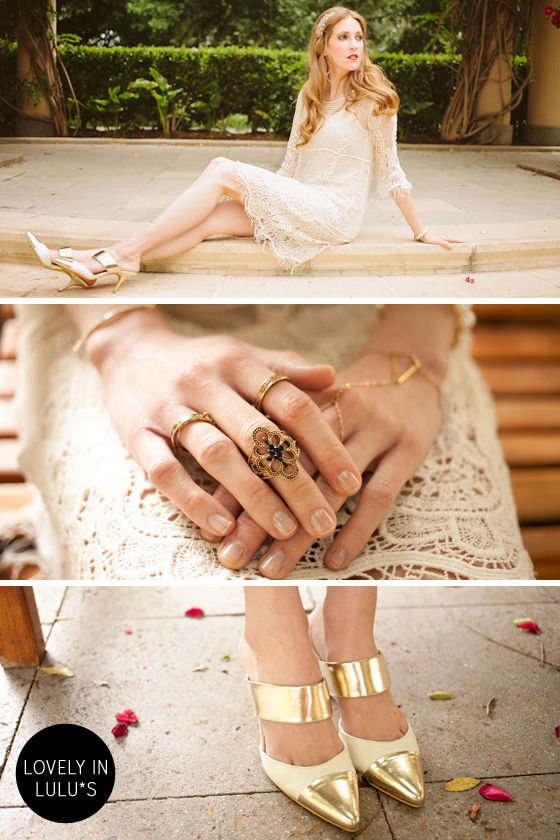 Hex-y and I Know It Gold Rhinestone Ring at Lulus.com!