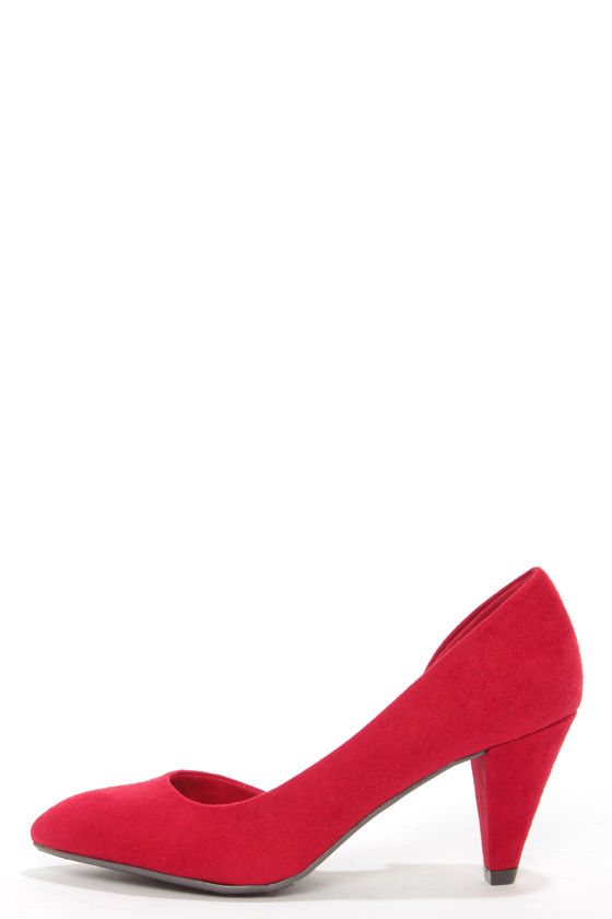 8c2e2beffc42 Cute D Orsay Shoes - Red Shoes - Kitten Heels -  49.00