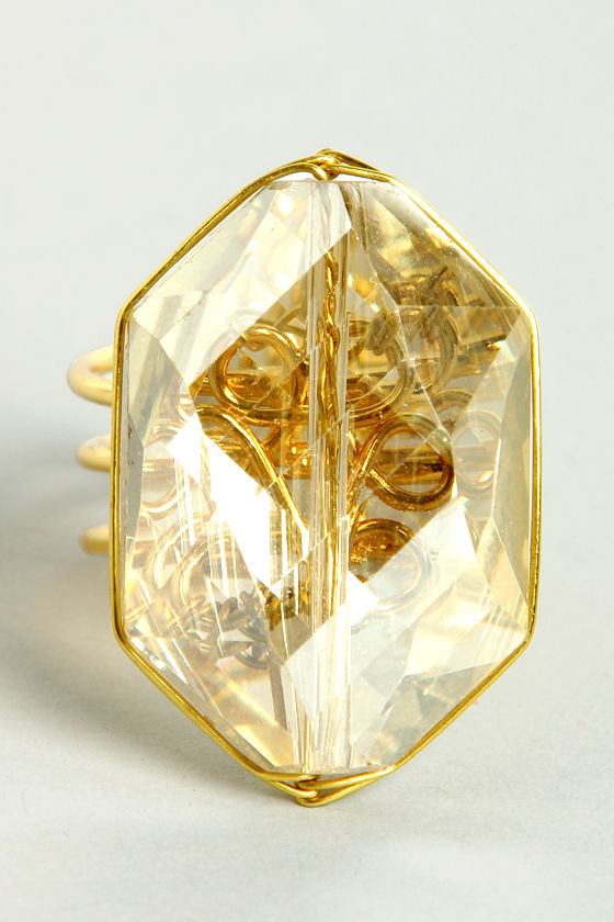 Candy Crystal Clear Ring at Lulus.com!