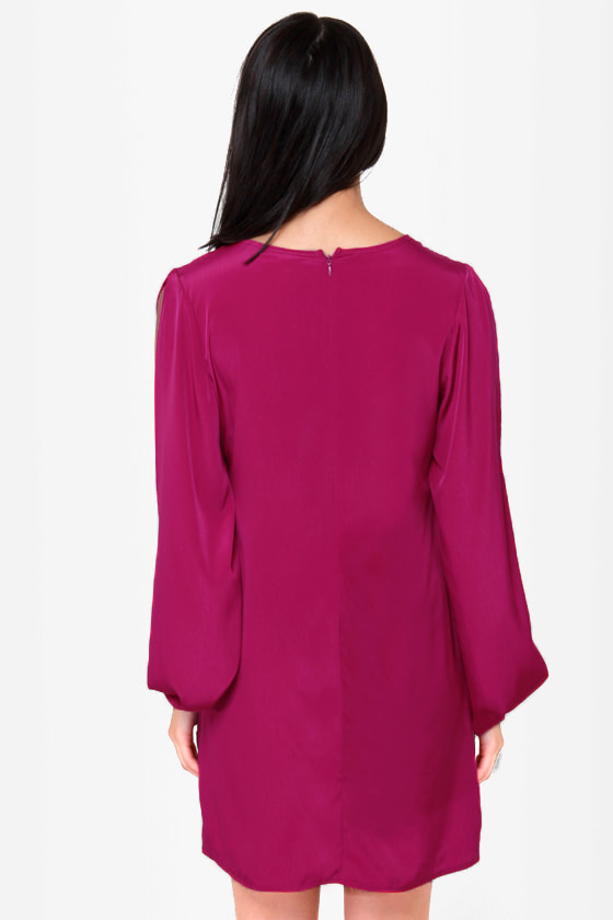 Out of Arm\\\\\\\\\\\\\\\\\\\\\\\\\\\\\\\'s Way Magenta Shift Dress