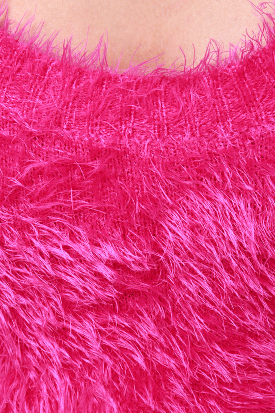 What a Softie Fuzzy Hot Pink Sweater at Lulus.com!
