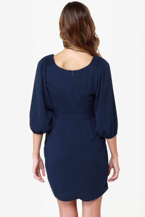 It's My Party Navy Blue Dress