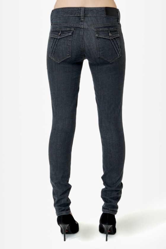 Level 99 Piper Washed Black Skinny Jeans