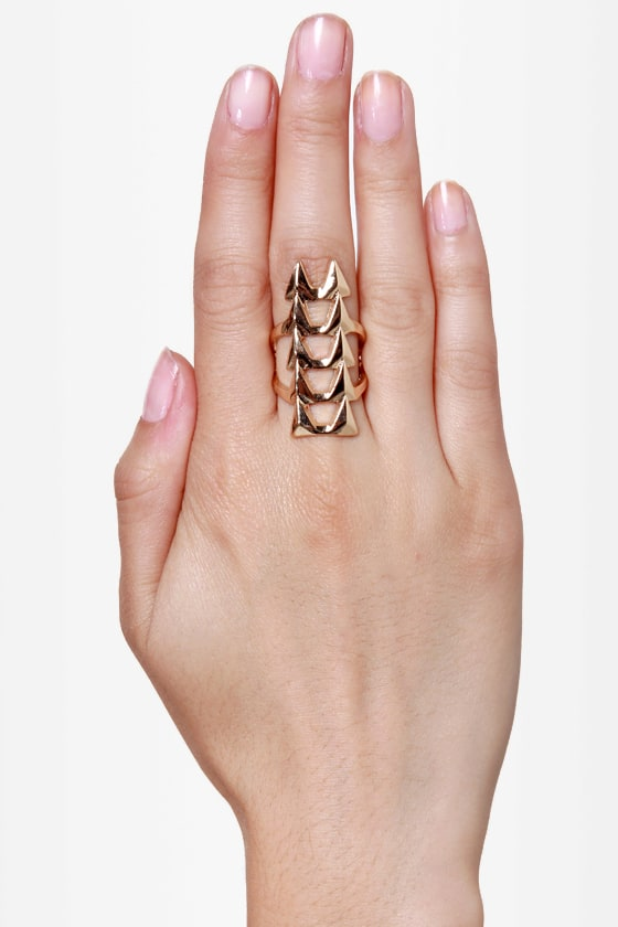 Ain't No Fang Gold Statement Ring at Lulus.com!