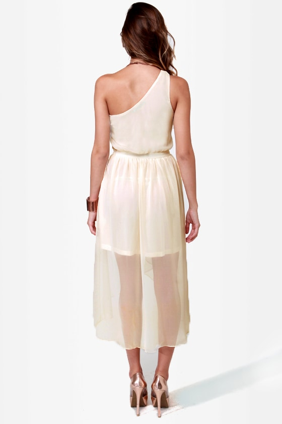 Sail Away Cream High-Low Dress