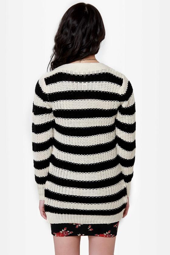 Calling Cardi Striped Cardigan Sweater