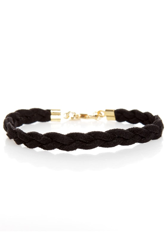 Made to Braid Black Bracelet at Lulus.com!