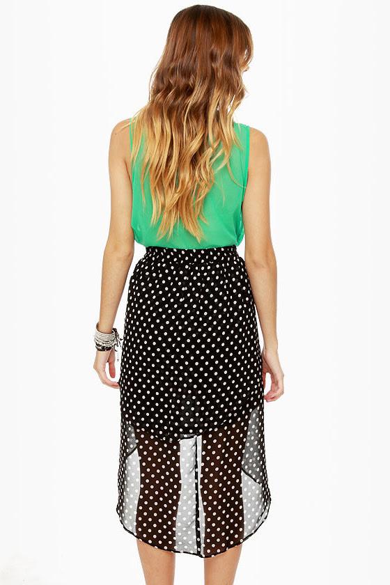 Element Eden Celina High-Low Polka Dot Skirt at Lulus.com!