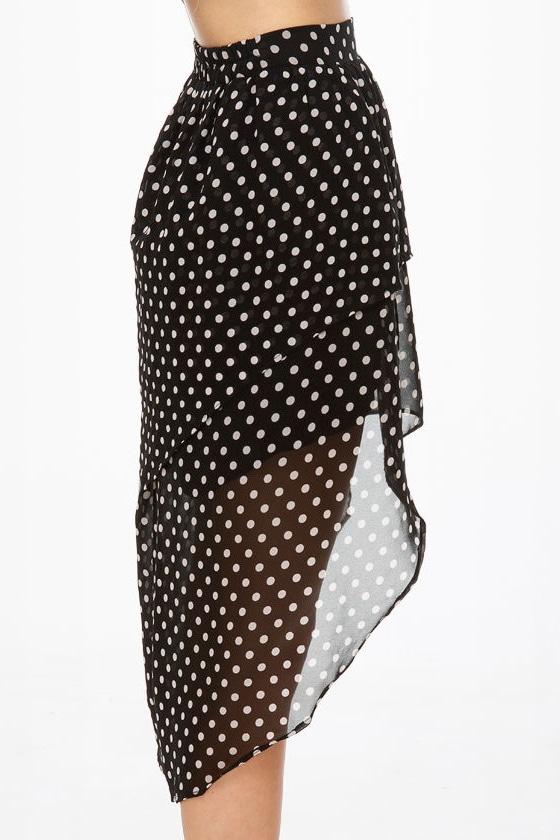 Element Eden Celina High-Low Polka Dot Skirt