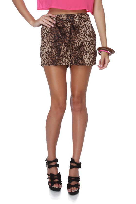 Meowza Animal Print Shorts