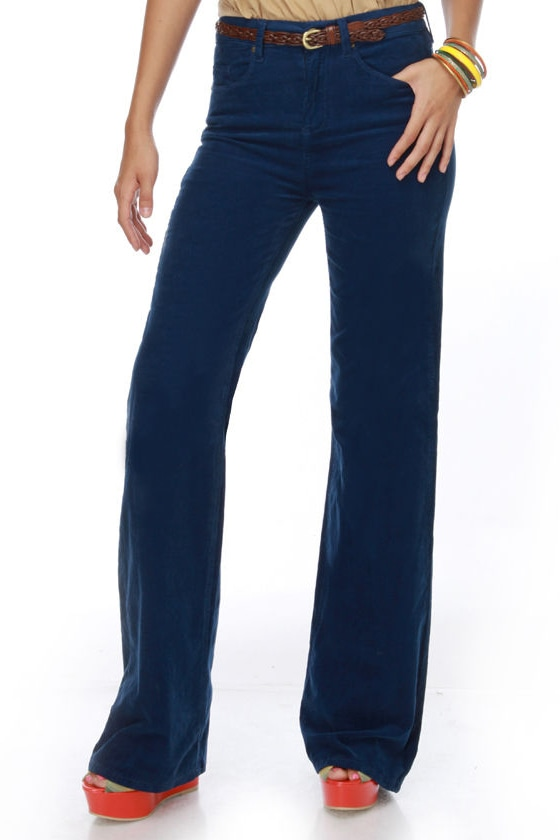 Blank NYC Jackie Burkhart Blue Flare Pants