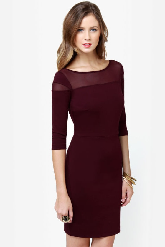 BB Dakota Jada Burgundy Dress