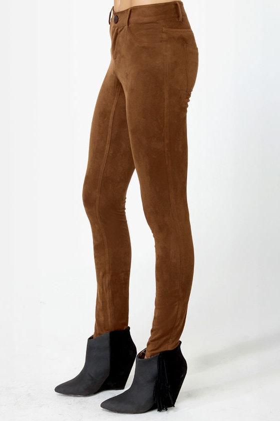 BB Dakota Astin Cognac Brown Pants at Lulus.com!
