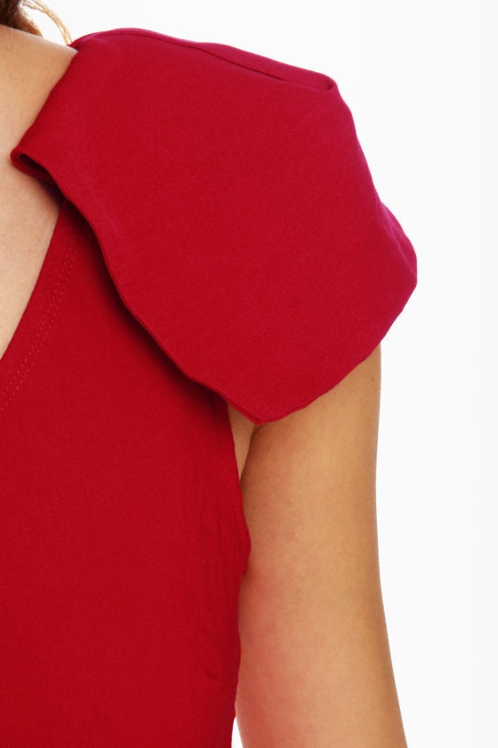 Marry the Night One Shoulder Red Dress at Lulus.com!