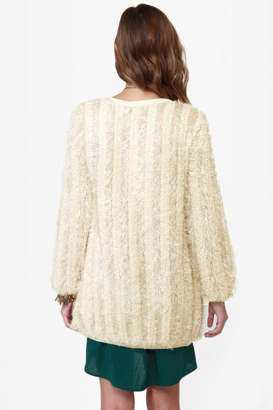 Darling Corina Beige Cardigan Sweater