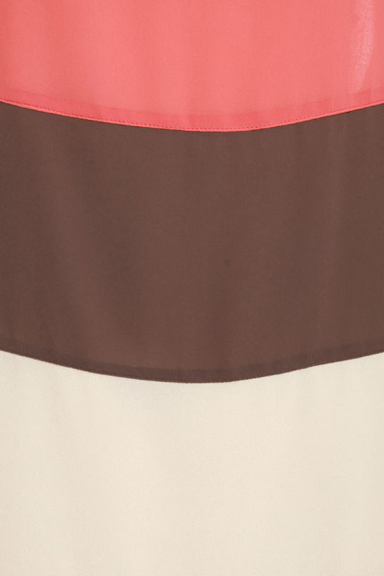 Blockie Talkie Color Block Dress at Lulus.com!