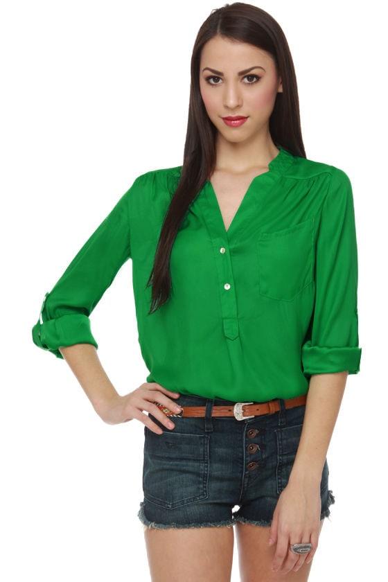 Really Rosebud Green Top