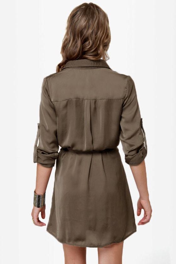 Big Tipper Sable Shirt Dress