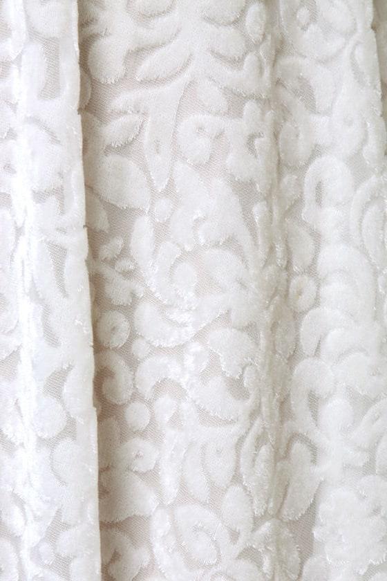 Fine Vine-ing Velvet Ivory Dress at Lulus.com!