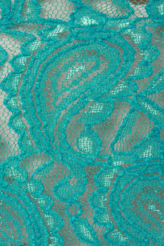 Bold as Love Teal Lace Jacket