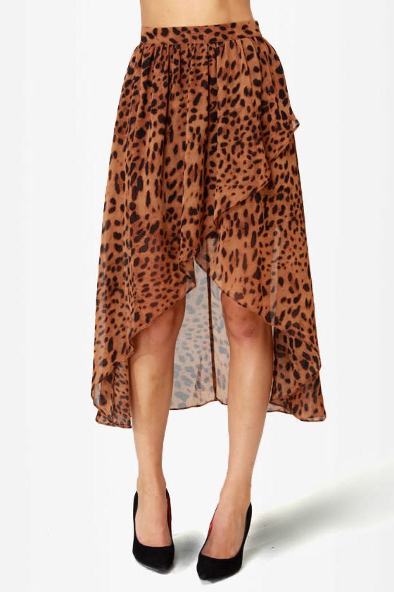 Animal Channeled Leopard Print Skirt at Lulus.com!