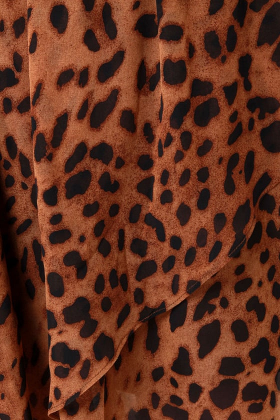 Animal Channeled Leopard Print Skirt