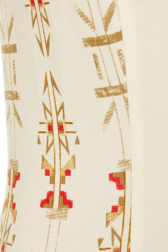 Somedays Lovin' Highway Man Ivory Print Dress at Lulus.com!