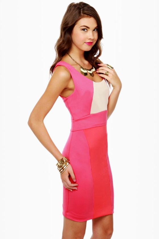 Be Cool Sleeveless Color Block Dress