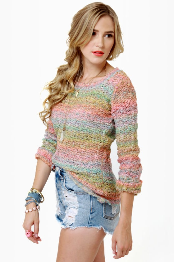Sherbet-ter Than Ever Rainbow Sweater