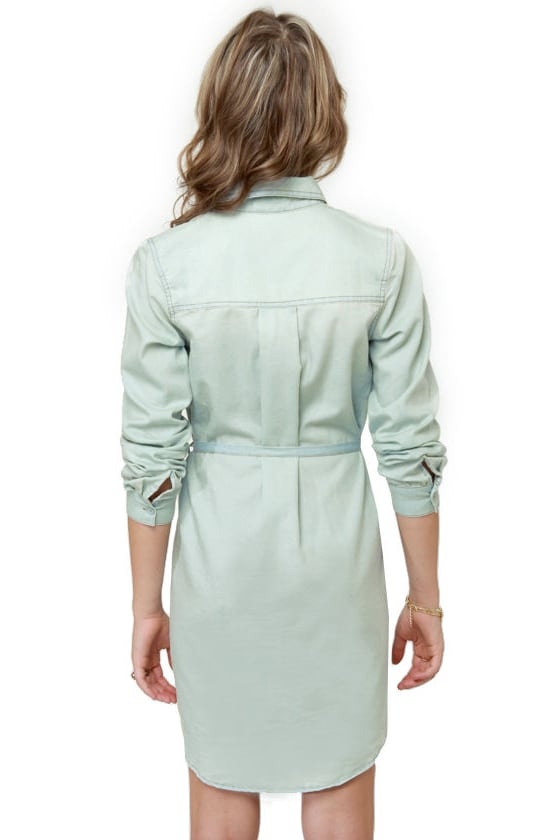 Buck Wild Studded Denim Shirt Dress at Lulus.com!