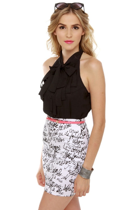 Dapper Dobbins Black Top at Lulus.com!