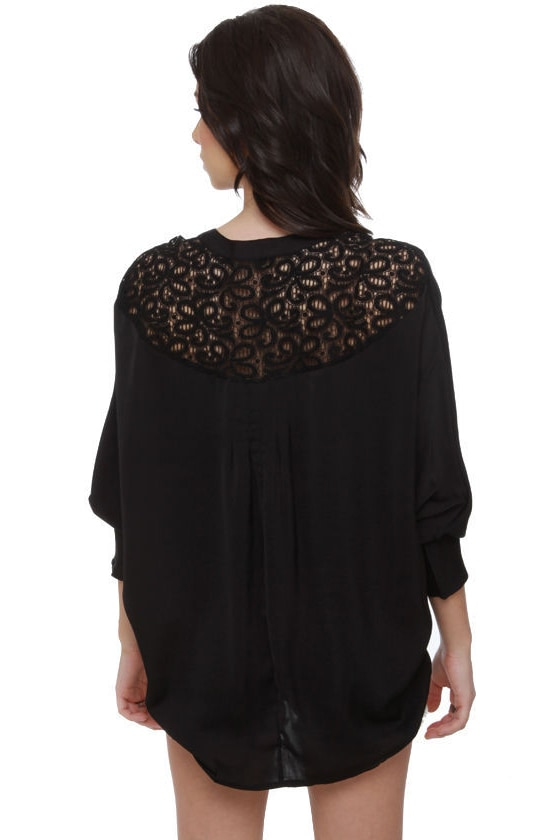 Dark Horse Lace Black Top