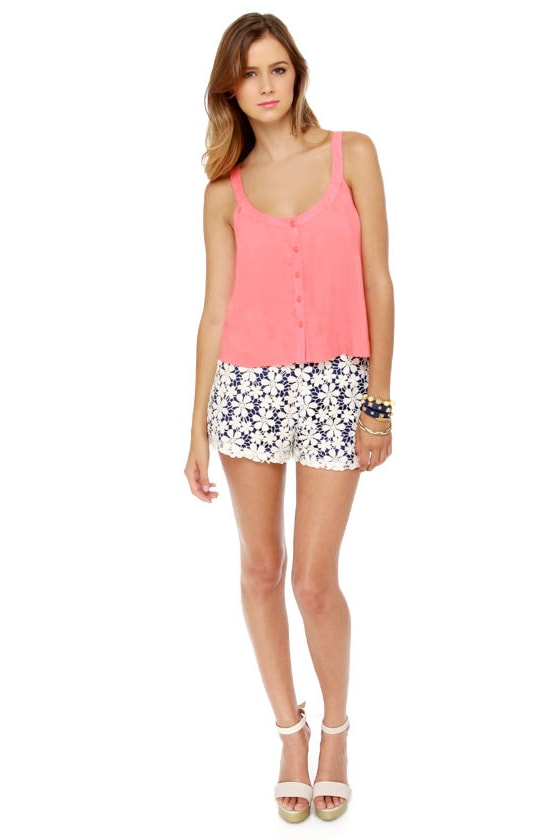 O'Neill Stella Coral Cropped Tank Top at Lulus.com!