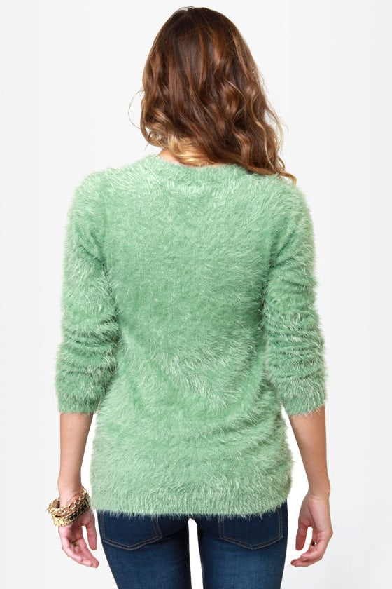 Heart to Handle Sage Green Sweater at Lulus.com!