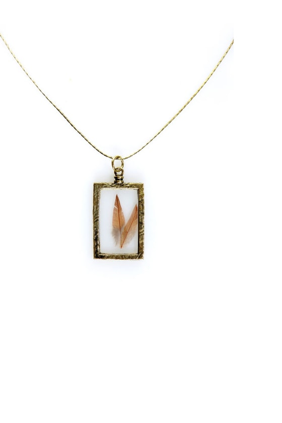 Obey Window Pane Gold Necklace at Lulus.com!
