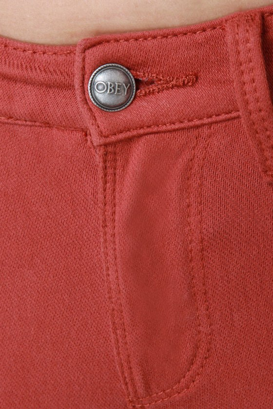 Obey Lean & Mean Tandoori Spice Red Jeans