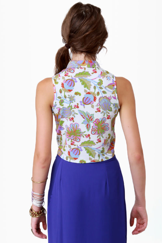 Can You Dig It Floral Print Top