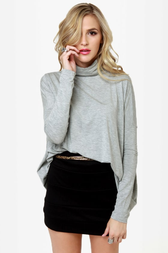Heroes in a Half Shell Grey Turtleneck Top