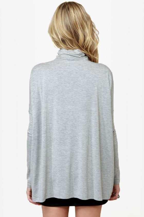 Heroes in a Half Shell Grey Turtleneck Top at Lulus.com!