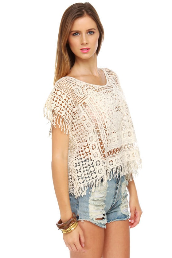 Black Sheep Hopi Ivory Crochet Top