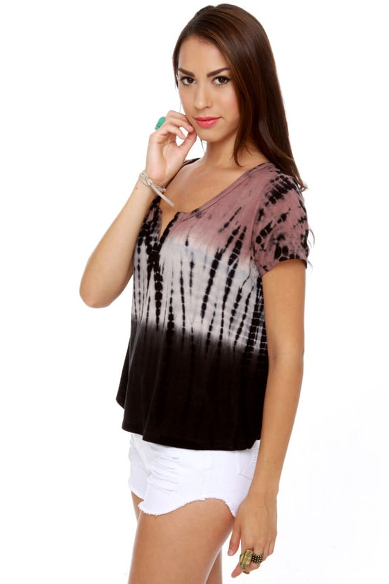 Black Sheep Environmentalist Ombre Tie-Dye Top