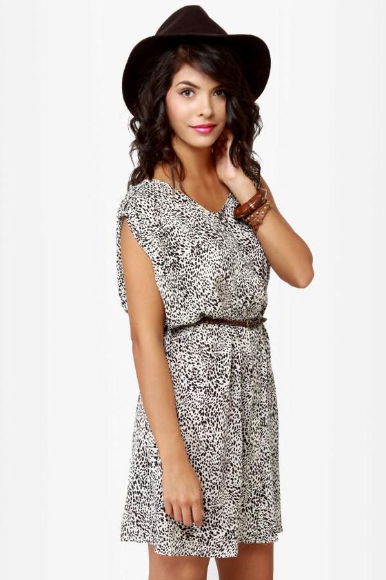 21cf4118eb Adorable Animal Print Dress - Dalmatian Print Dress - Button-Up ...