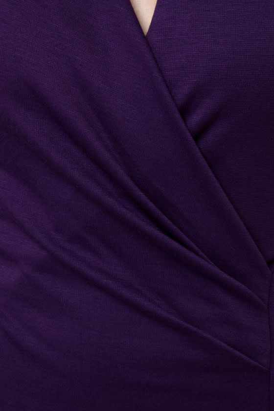 Foreign Film Purple Dress