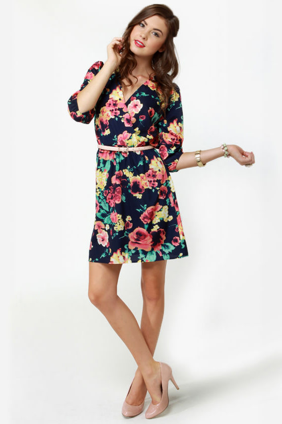 Primrose and Proper Floral Print Dress at Lulus.com!