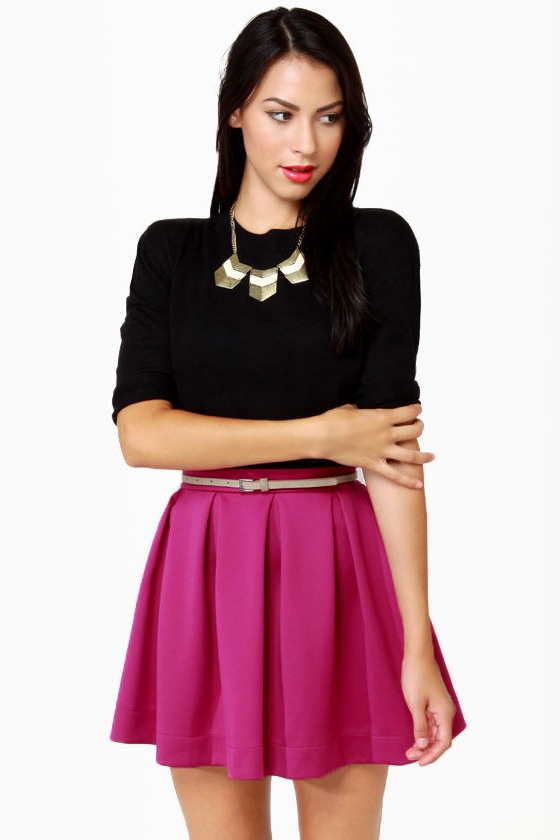 Everything Illuminated Magenta Skirt at Lulus.com!