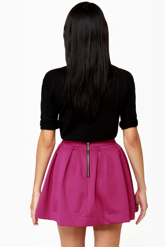 Everything Illuminated Magenta Skirt