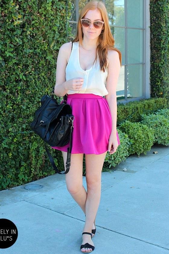 Everything Illuminated Magenta Skirt