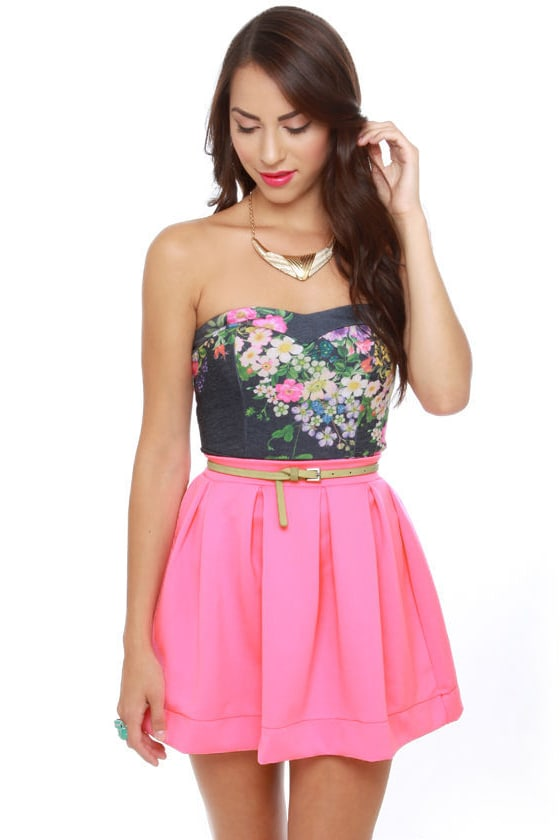 Everything Illuminated Neon Pink Skirt