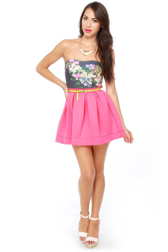 Everything Illuminated Neon Pink Skirt