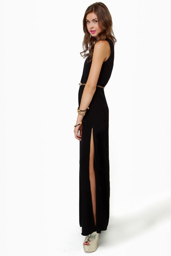 Temptress Black Maxi Dress